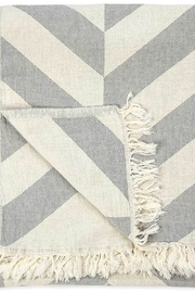 Pokoloko Turkish Towel In Large Chevron - Front full body