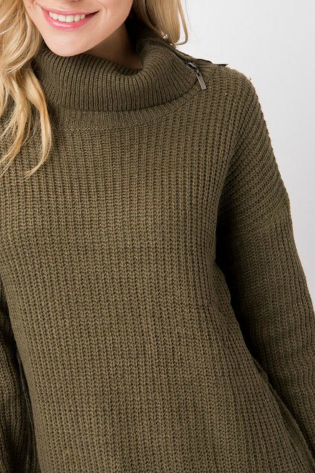 Cozy Casual Turleneck Sweater Tunic - Front Full Image