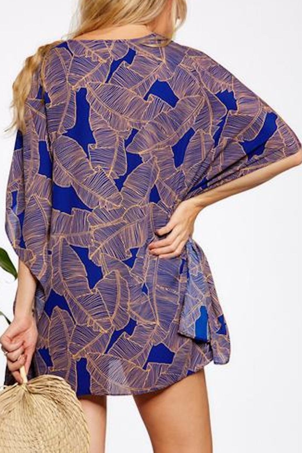 Asher by Fab'rik Turner Coverup - Blue - Back Cropped Image