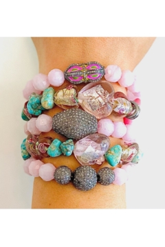 The Woods Fine Jewelry  Turquoise and Heart Stretch Bracelet - Product List Image