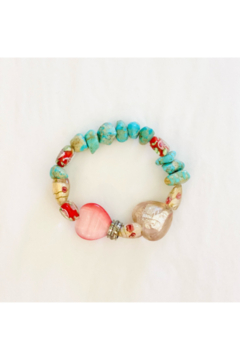 The Woods Fine Jewelry  Turquoise and Heart Stretch Bracelet - Alternate List Image