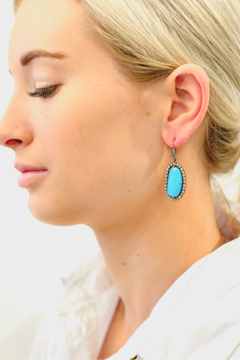 The Woods Fine Jewelry  Turq Drop Earrings - Product List Image