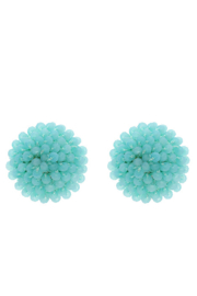 Liza's Jewelry  Turqouise Beaded Stud - Product Mini Image