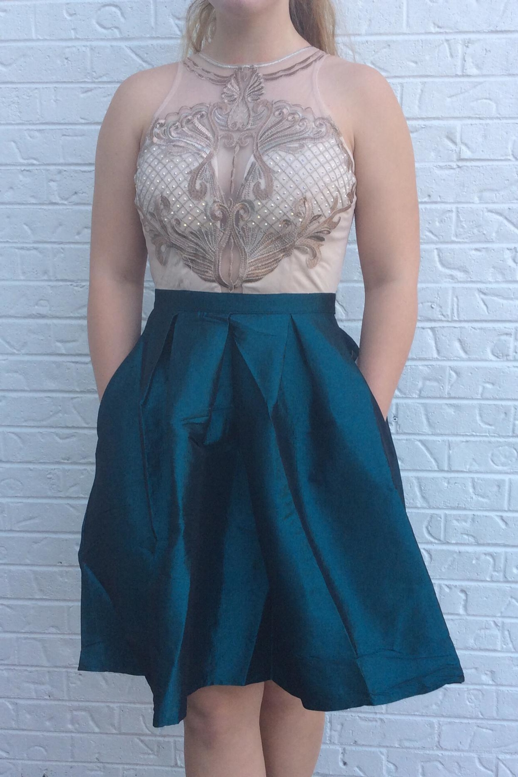 Soieblu Turquiose Formal Dress - Main Image