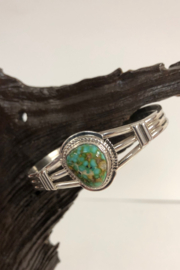 Shiprock Trading Post Turquoise and Sterling Silver Bracelet - Product Mini Image