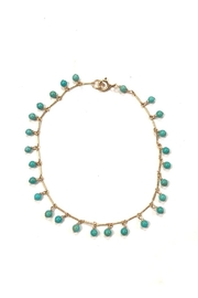 Confetti and Friends Turquoise Beaded Anklet - Product Mini Image