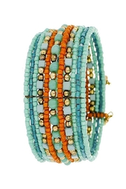 Kenze Panne Turquoise Beaded Cuff - Product Mini Image