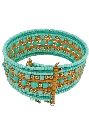 Kenze Panne Turquoise Beaded Cuff - Front full body