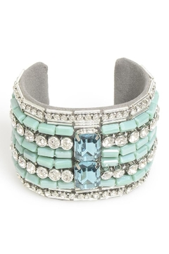 Zenzii Turquoise Beaded Cuff - Product List Image