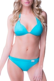 beach joy TURQUOISE BIKINI with RHINESTONE ACCENT - Front cropped