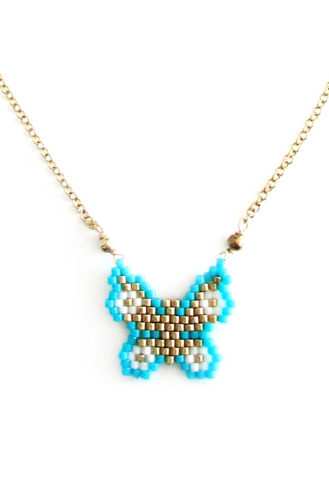 Malia Jewelry Turquoise Butterfly Necklace - Front Full Image