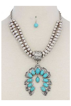 KIMBALS Turquoise Chunky 3-Strand Necklace - Alternate List Image