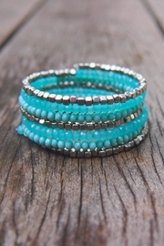 Wild Lilies Jewelry  Turquoise Coil Bracelet - Product Mini Image
