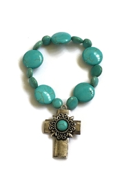 JChronicles Turquoise Cross-Charm Bracelet - Product Mini Image