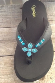 Glitterflops Turquoise Cross Flipflop - Product Mini Image
