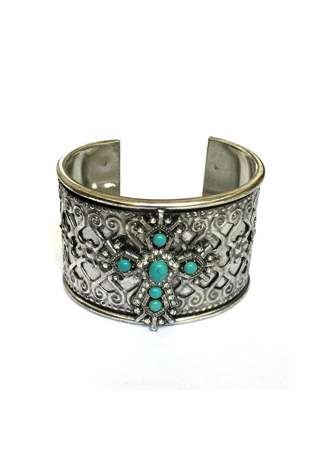 JChronicles Turquoise Cuff Bracelet - Main Image