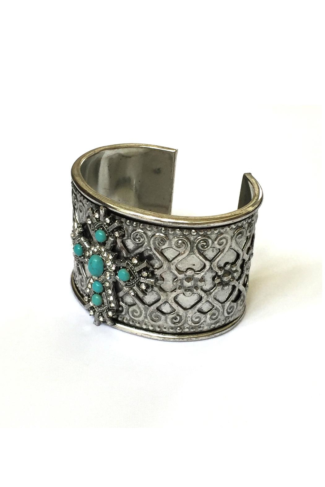 JChronicles Turquoise Cuff Bracelet - Front Full Image