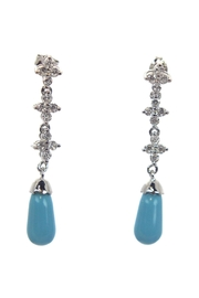 Diane's Accessories Turquoise Cz Earrings - Product Mini Image
