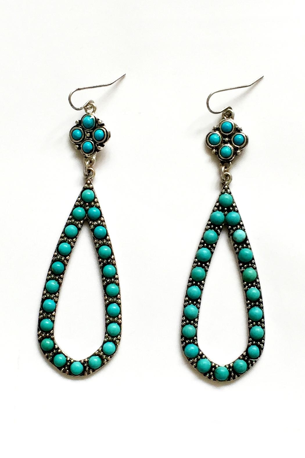 Jchronicles Turquoise Dangle Earrings Front Cropped Image