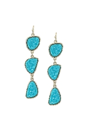 Wild Lilies Jewelry  Turquoise Druzy Earrings - Product Mini Image
