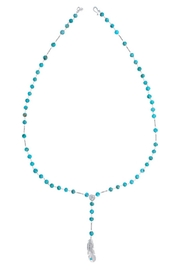 Chan Luu Turquoise Feather Pendant - Side cropped