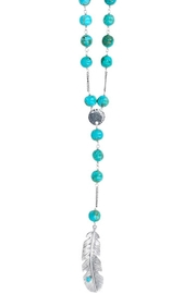 Chan Luu Turquoise Feather Pendant - Front cropped