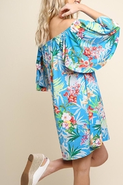 Umgee USA Turquoise Floral Dress - Front full body