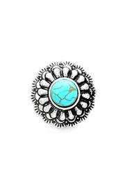 Wild Lilies Jewelry  Turquoise Flower Ring - Product Mini Image
