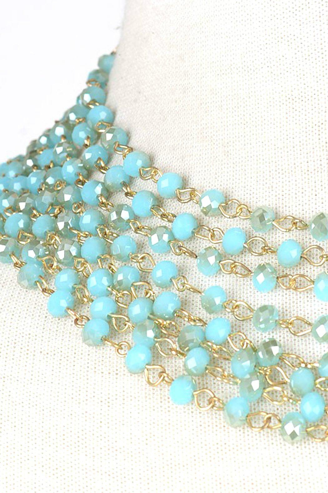 Minx Turquoise Goddess Necklace - Front Full Image