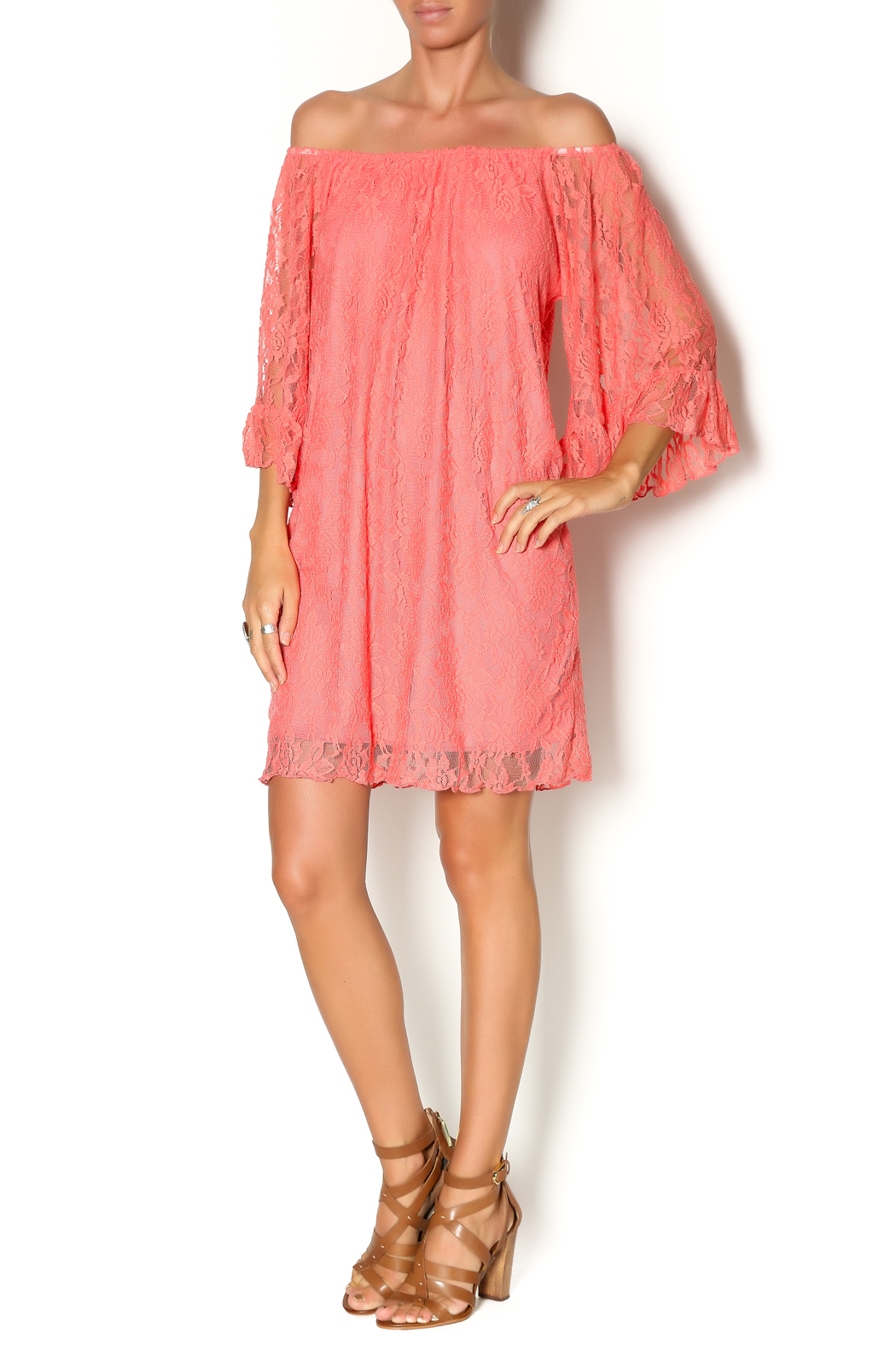 Turquoise Haven Coral Lace Dress From Texas By All About