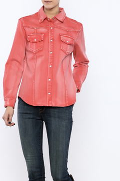 Turquoise Haven Red Denim Shirt - Product List Image