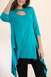 Umgee USA Turquoise High-Low Tunic - Product Mini Image