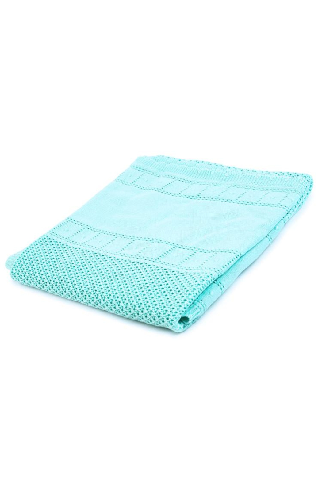 Mayoral Turquoise Knitted Blanket - Main Image