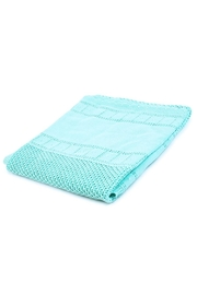 Mayoral Turquoise Knitted Blanket - Front cropped