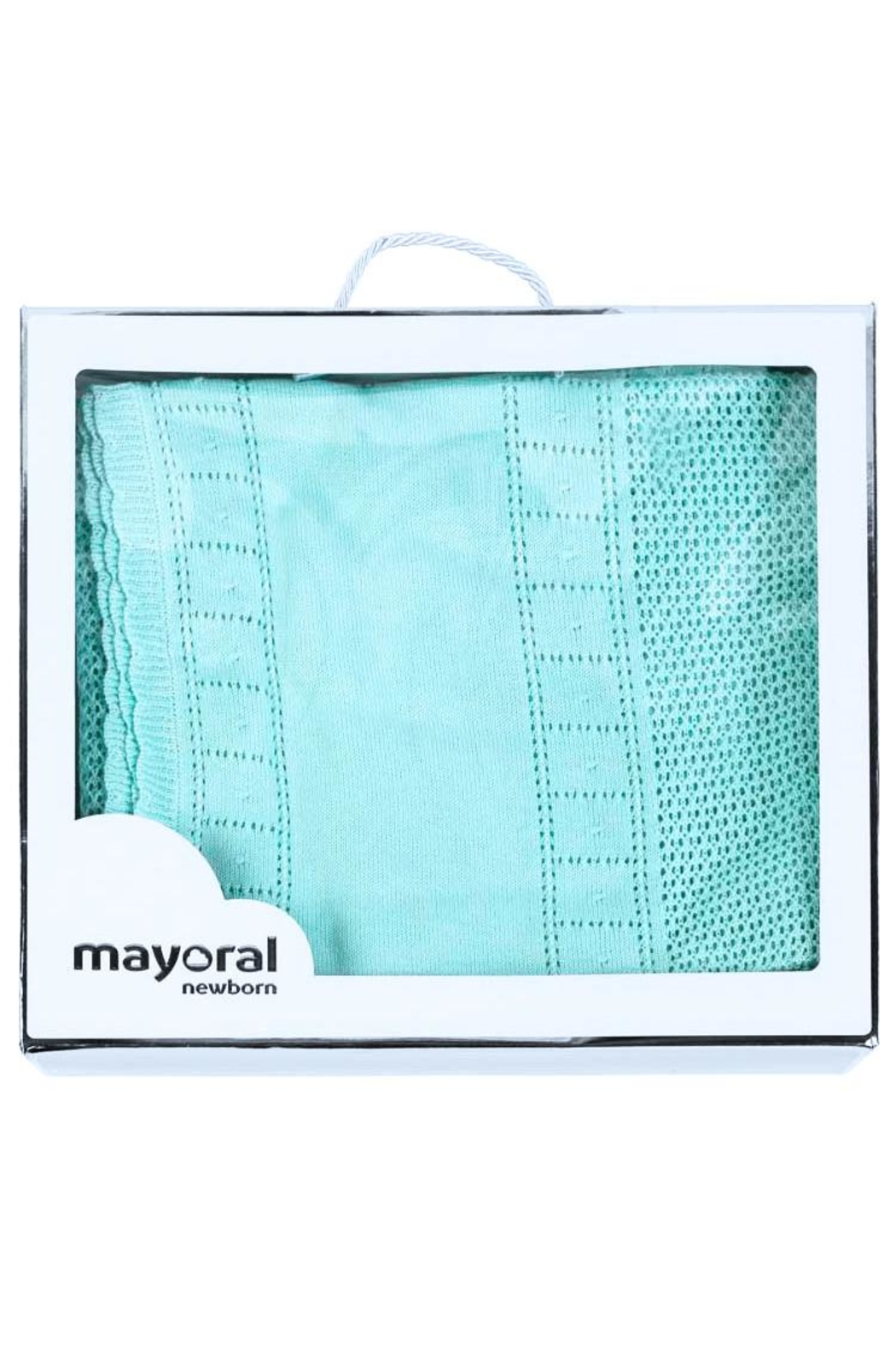 Mayoral Turquoise Knitted Blanket - Side Cropped Image