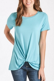 Another Love Turquoise Knot-Tie Tee - Product Mini Image