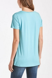 Another Love Turquoise Knot-Tie Tee - Front full body
