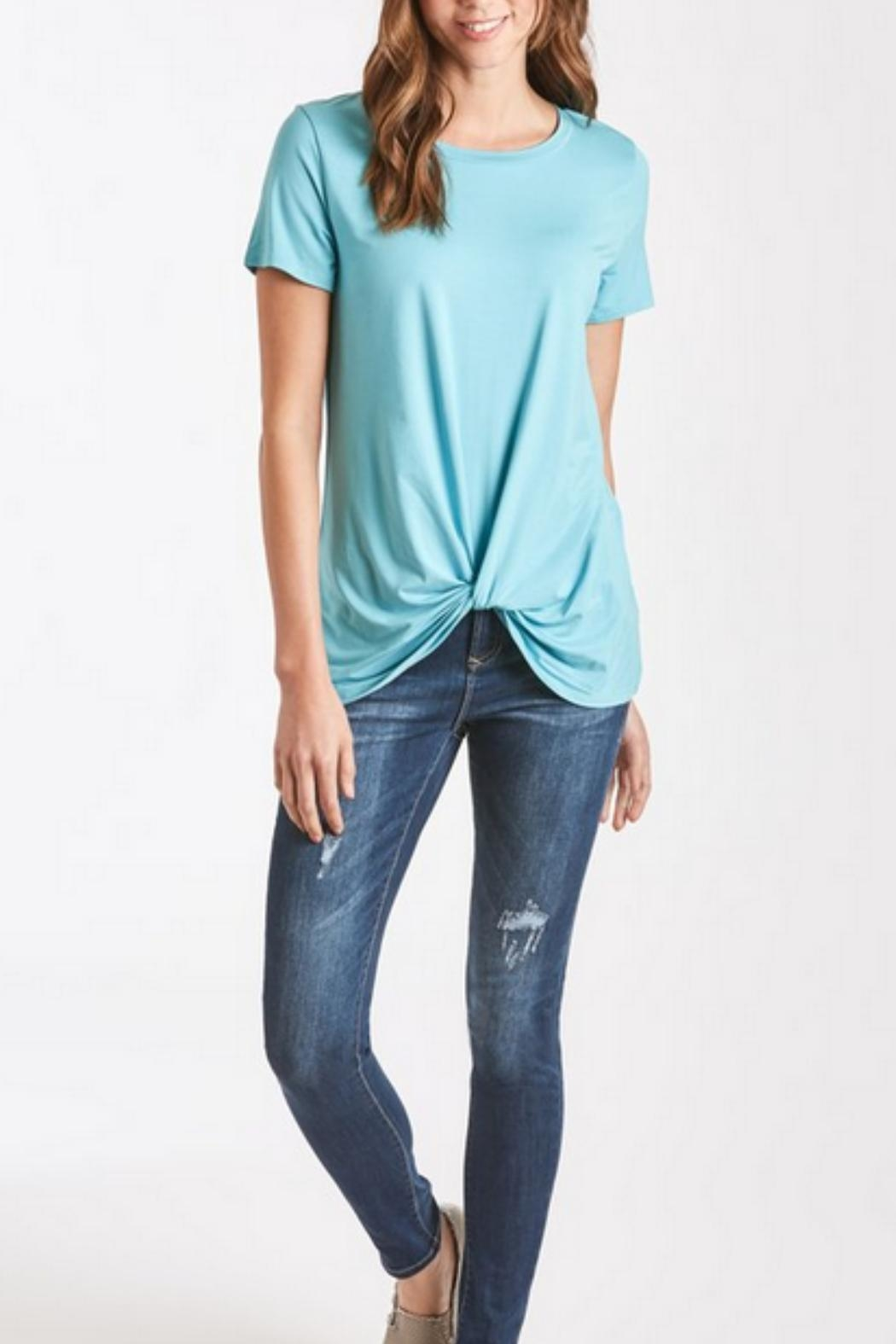 Another Love Turquoise Knot-Tie Tee - Side Cropped Image
