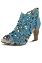 Spring Footwear Turquoise Leather Pump - Product Mini Image