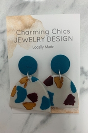 Charming Chics Turquoise Leopard Earrings - Product Mini Image