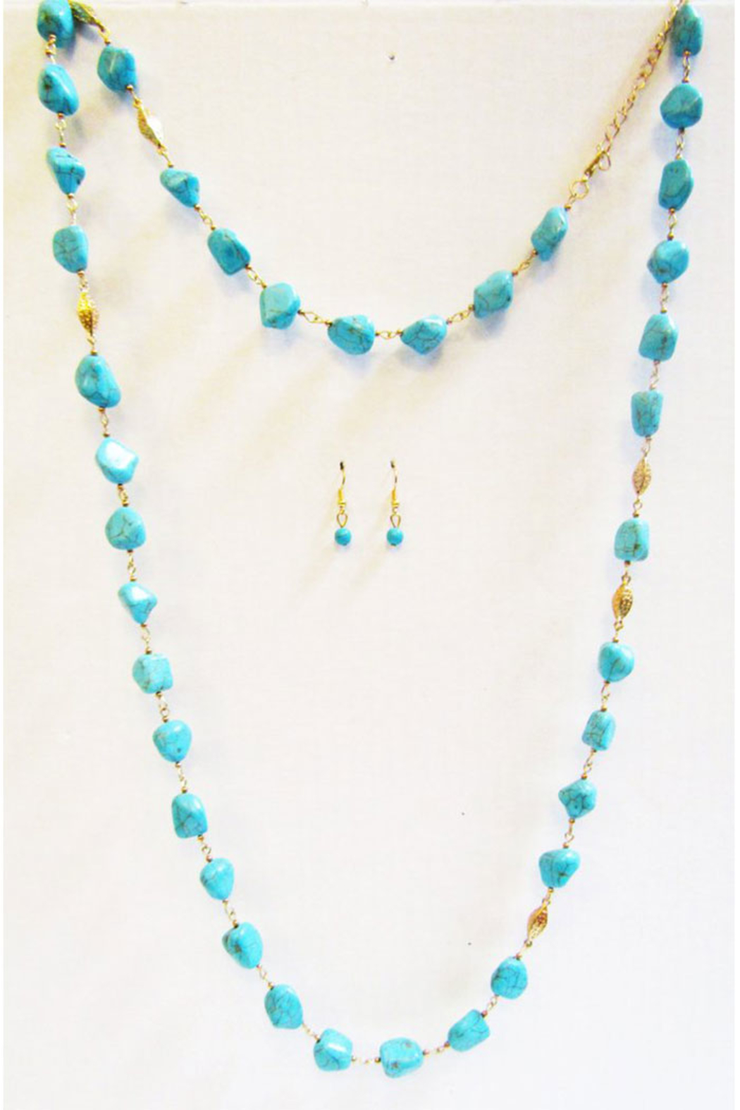 KIMBALS Turquoise Long Strand Necklace Set - Main Image