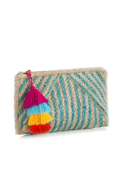 Shoptiques Product: Turquoise Marinella Clutch