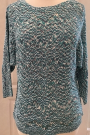Nic+Zoe Turquoise multi-colored open stitch sweater - Product Mini Image