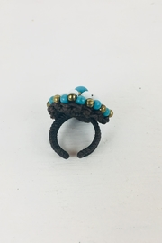 Ndiginus Turquoise Multi-Stone Bead-Ring - Front cropped
