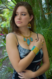 Gypsy Handmade Turquoise Necklace - Front cropped