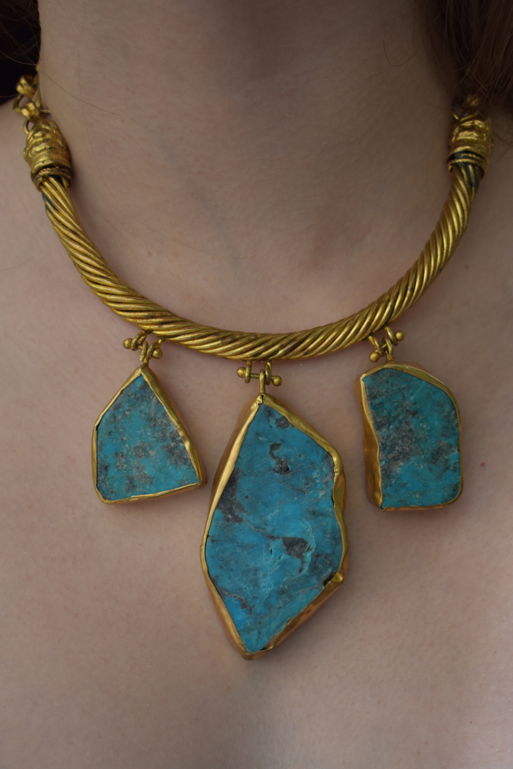 Gypsy Handmade Turquoise Necklace - Front Full Image