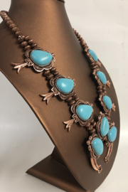 Cindy smith Turquoise Necklace and Earring Set - Front full body