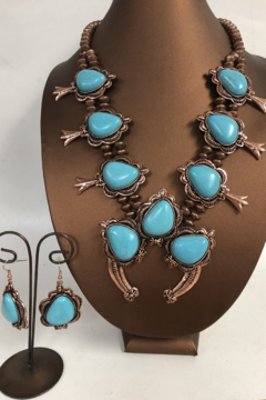 Shoptiques Product: Turquoise Necklace and Earring Set
