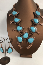 Cindy smith Turquoise Necklace and Earring Set - Front cropped