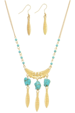 Mimi's Gift Gallery Turquoise Necklace Set - Alternate List Image